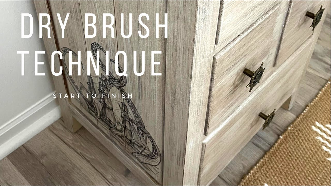 Start to Finish Furniture Makeover | How to Dry Brush | Trash to Treasure | Coastal Design