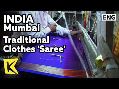 【K】India Travel-Mumbai[인도 여행-뭄바이]6m 천으로 만드는 인도 전통 의상 '사리'/Traditional Clothes/ Saree