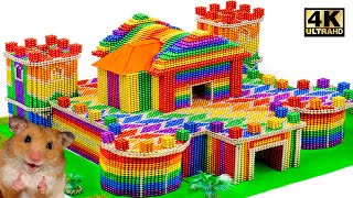 DIY - Howto Build Beautiful Castle For Hamster From (Satisfying Videos)   Magnet World Series