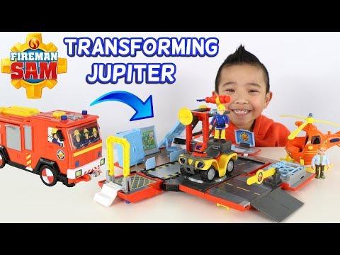 FIREMAN SAM Transforming Jupiter Fire Engine And Fire Station CKN Toys