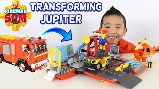 FIREMAN SAM Transforming Jupiter Fire Engine And Fire Station CKN Toys