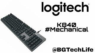 Logitech K840 Mechanical Keyboard #NewTechAlert #BGTechLife