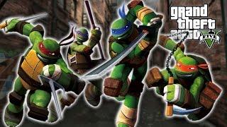 GTA 5 Mods - TEENAGE MUTANT NINJA TURTLES!! (GTA 5 PC Mods Gameplay)
