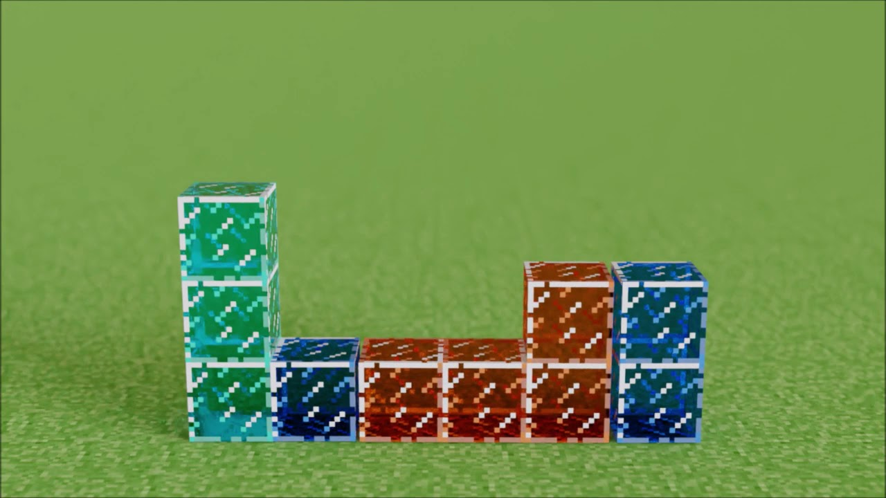 Minecraft Rigid Body Tetris