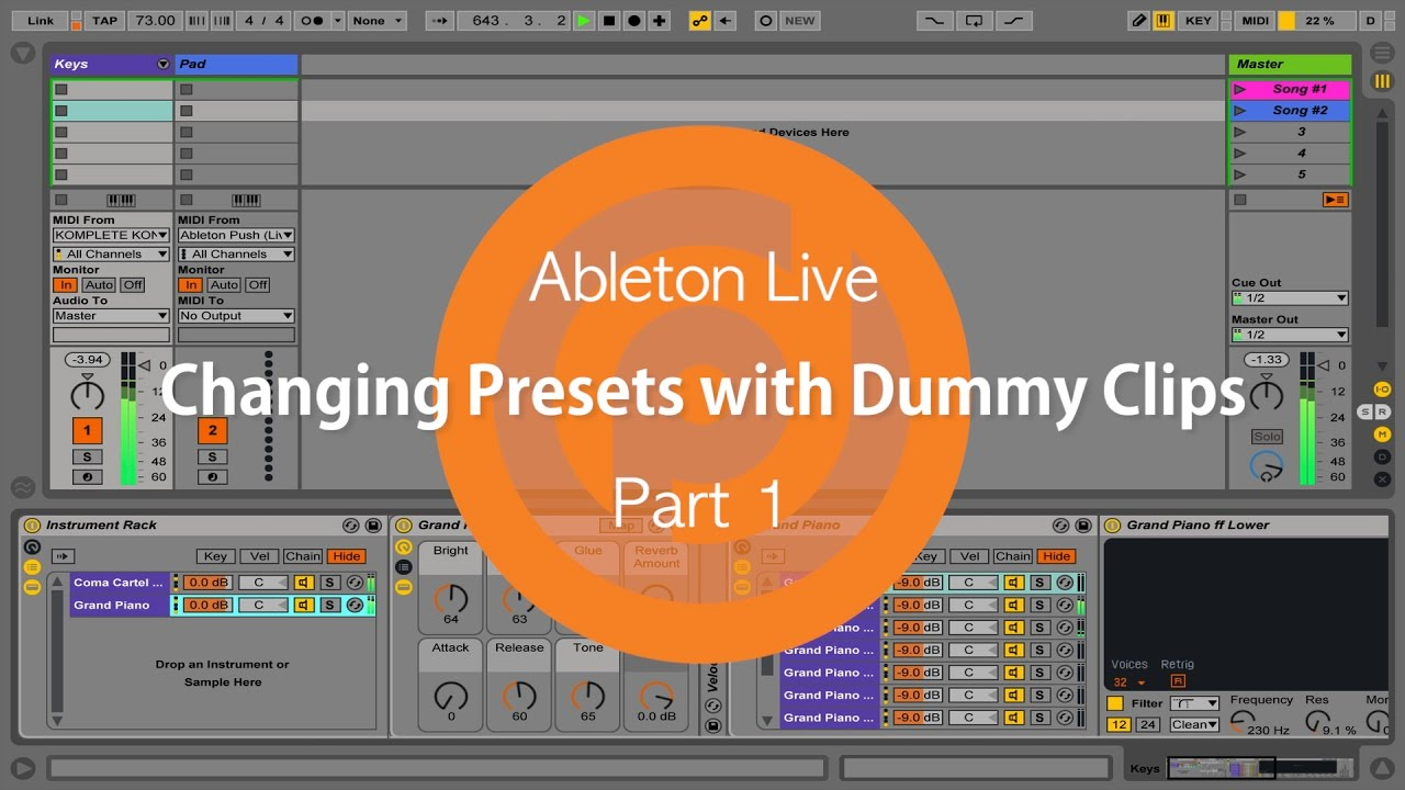 Changing Presets with Dummy Clips | Ableton Live