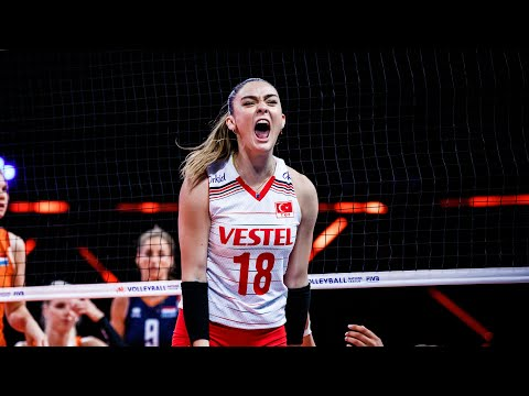 Zehra Gunes   She is Not Only Beautiful, She is Also Super Talented   Women's VNL 2021