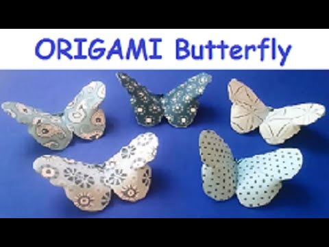 How To Make an Easy Origami Butterfly (in 3 MINUTES!) - YouTube | 360x480