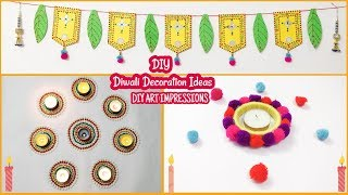 DIY Last Minute Diwali Decoration Ideas (Quick and Easy)|DIY Art Impressions
