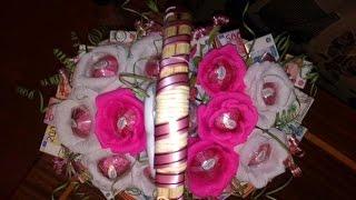 Как сделать оригинальный сладкий подарок на свадьбу