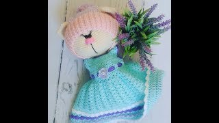 вязание,вязание платья,мастер-класс платья, платье вязаное крючком для зайки часть 1