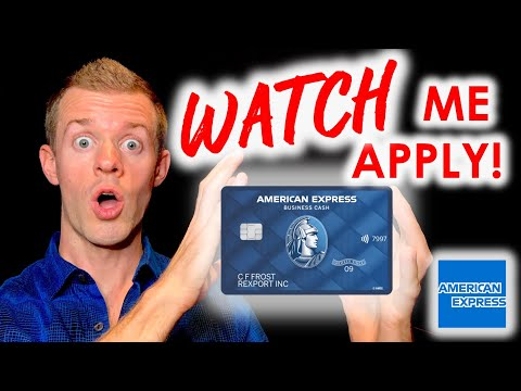 *WATCH ME APPLY* Amex Business Credit Card! (Amex Blue Business Cash Card)