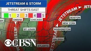 Severe weather system sweeps through the U.S.