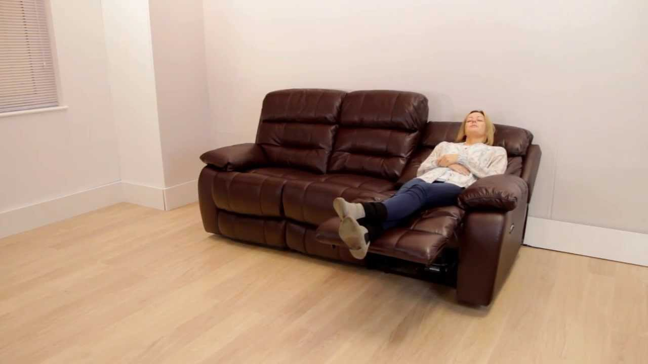 furniture village - moreno - three seater reclining sofa - youtube