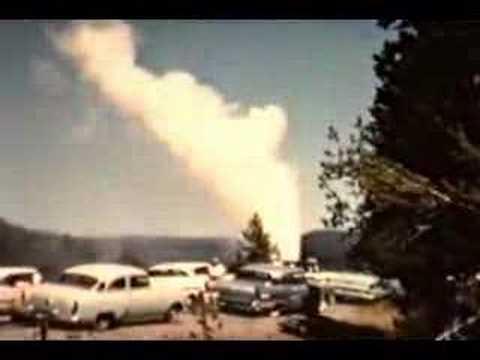 Castle Geyser Yellowstone 1958