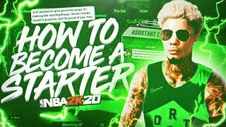 HOW TO BECOME A STARTER IN NBA 2K20 • BECOME A STARTER IN 5 GAMES WITH THIS FAST AND EASY METHOD...