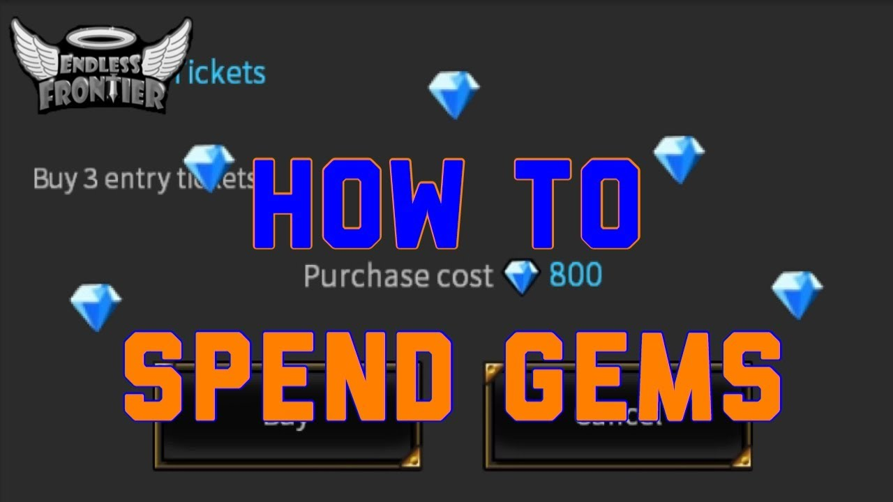 How To Save Gems - Endless Frontier