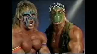 Ultimate Warrior and Hulk Hogan Promo on Match Made in Hell (07-14-1991)