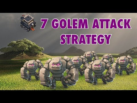7 Golem Avalanche! TH9 3-Star Attack Strategy