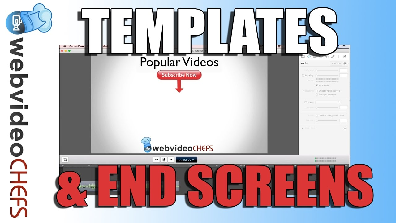 How to Make a Video Template and YouTube End Screen - YouTube
