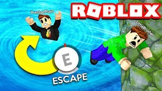 ROBLOX FLOOD ESCAPE OBBY CHALLENGE with my LITTLE BROTHER! (RAGE WARNING)