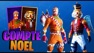 PRESENTATION OF MY RARE CASIER [SKIN OF NOEL] 300 FORTNITE