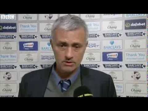 Everton vs Chelsea 1-0 - Jose Mourinho (14-09-13)