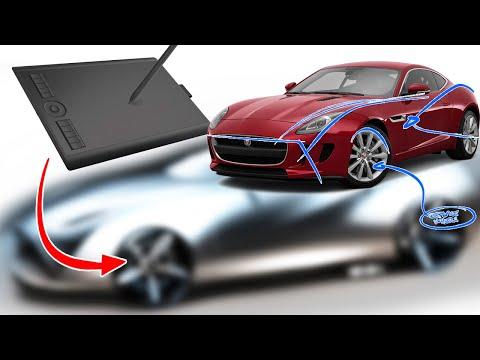 Jaguar F-Type Re-design + Gaomon M10K Tablet REVIEW!
