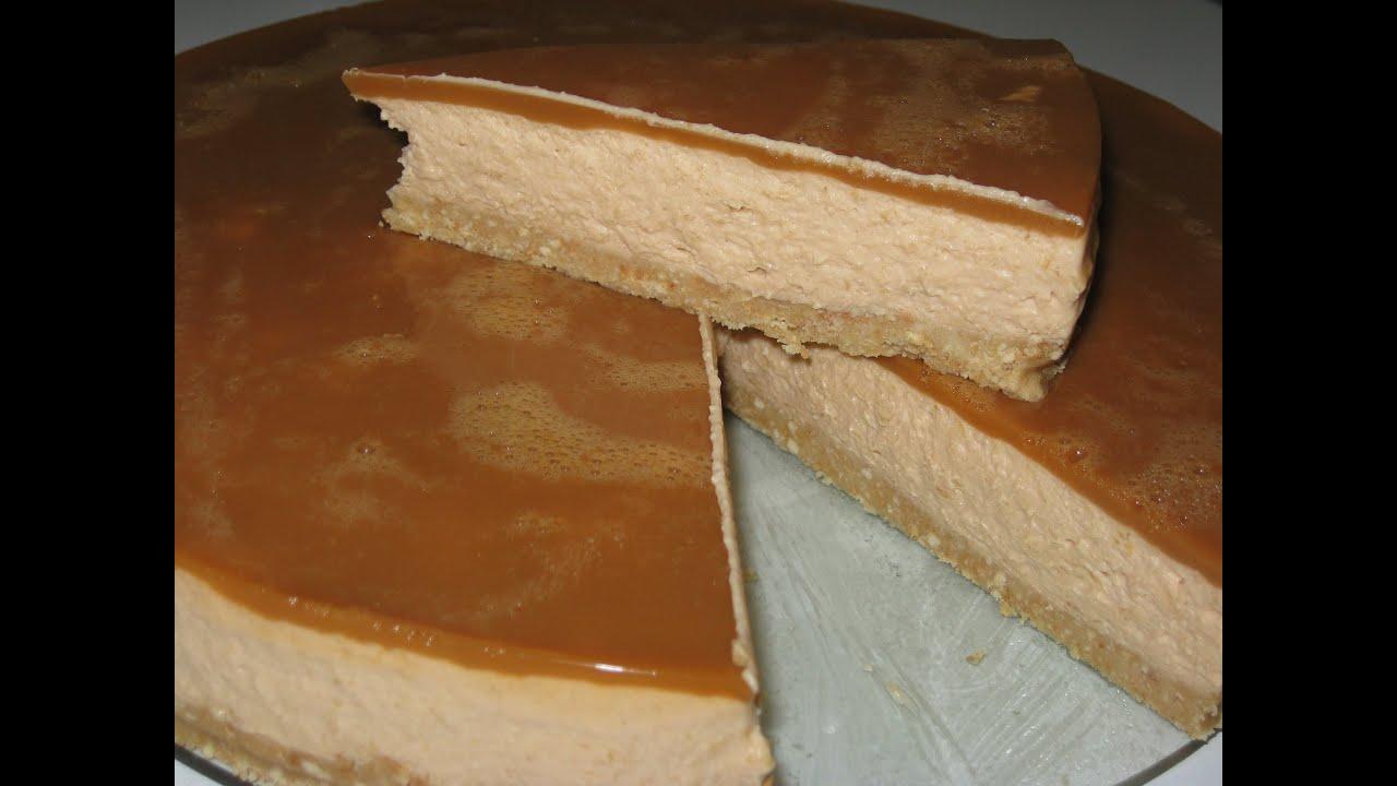 Карамельный чизкейк без выпечки