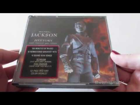 Unboxing: Michael Jackson - HIStory: Past, Present and Future, Book I CD album (1995)