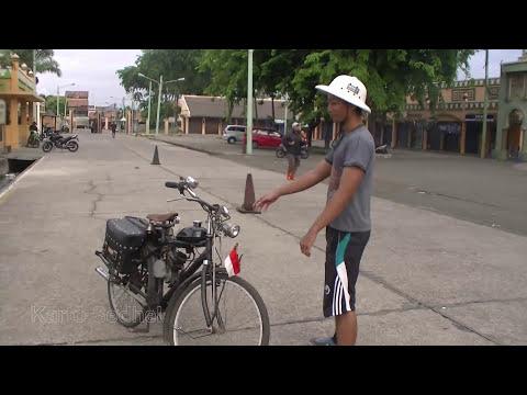 Sepeda Onthel 50cc hebohkan marakash square