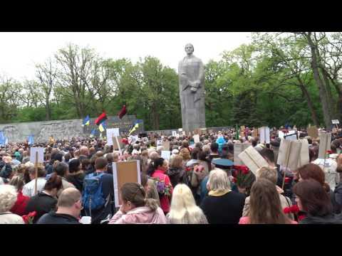 День Победы в Харькове на мемориале Славы, парад 9 мая 2017