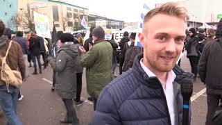 AfD vor Ort: Demo der Antifa gegen den Bundesparteitag in Riesa