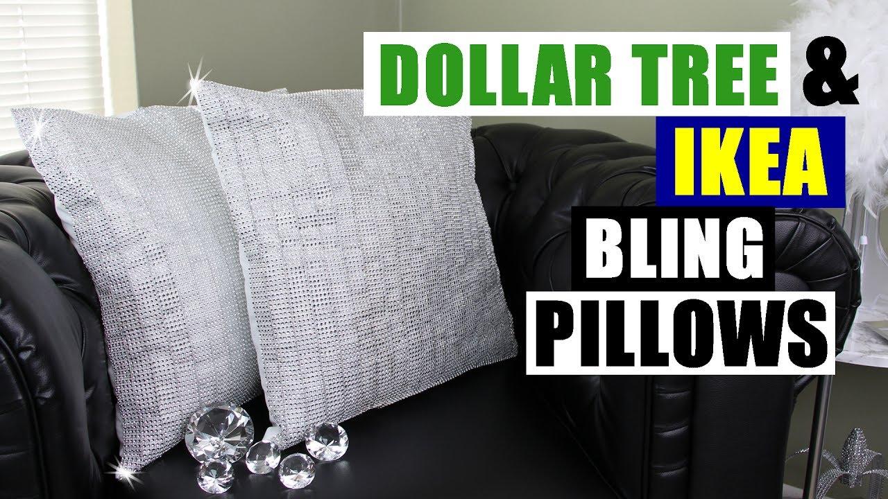Diy Dollar Tree Amp Ikea Bling Pillows Dollar Store Ikea Diy