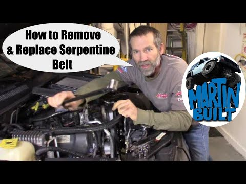 How to Replace a Serpentine Belt for Chrysler 3.7 & 4.7 engines