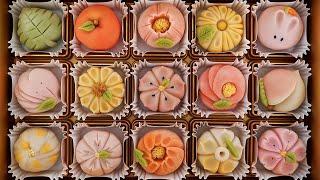 수제 화과자 만들기 / traditional japanese sweet flower cake / korean street food