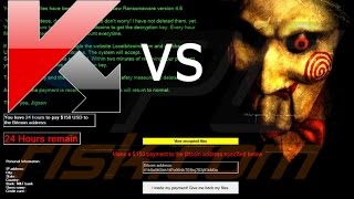 Kaspersky I.S. 2017 vs. Unknown Jigsaw Ransomware 4.6
