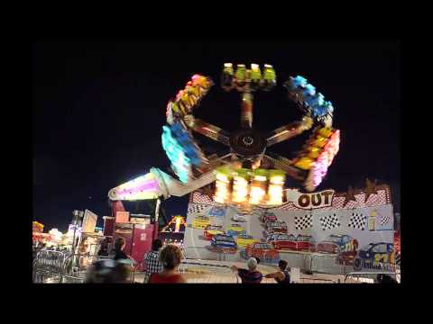 Colorado State Fair carnival after dark