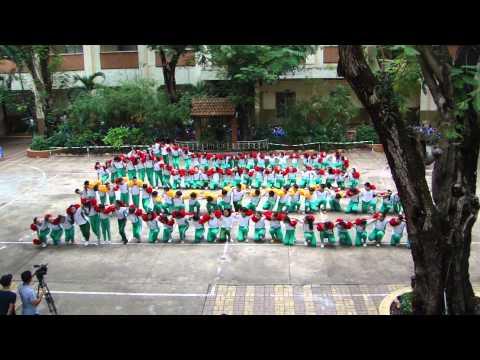 Đồng diễn-tập thể lớp 5K+5L Trường tiểu học Nguyễn Thái Sơn 2013-2014