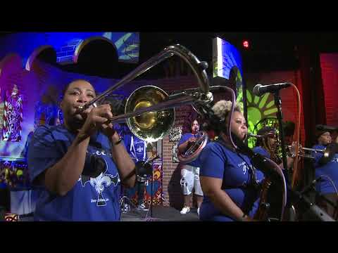 Original Pinettes Brass Band performs