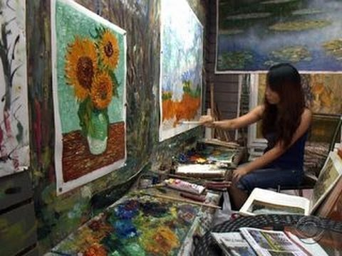 Counterfeit Paintings From China Flooding The Market Youtube