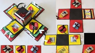 DIY Exploding Gift Box | How to make Different Cards for Putting Inside the Explosion Box