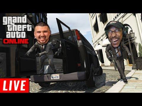 MY FIRST HEIST LIVE! | Grand Theft Auto Online