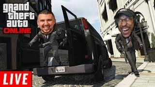 MY FIRST HEIST LIVE!   Grand Theft Auto Online
