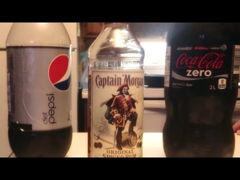 Rum and Coke Zero VS Rum and Diet Pepsi  0 Cal Taste Challenge