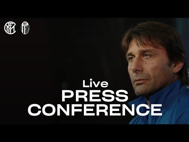 INTER vs BOLOGNA | LIVE | ANTONIO CONTE PRE-MATCH PRESS CONFERENCE | 🎙️⚫🔵 [SUB ENG]