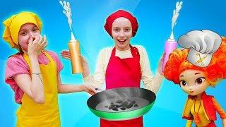 Смешные видео для детей - Кулинарный батл с Леди Баг и куклой Сказочный патруль