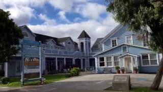 Main Street Half Moon Bay CA.  Pretty Beach Town