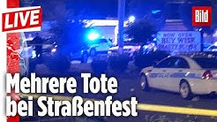 🔴  2 Tote und 7 Verletzte nach Schüssen in Charlotte | BILD-Reporter LIVE aus den USA
