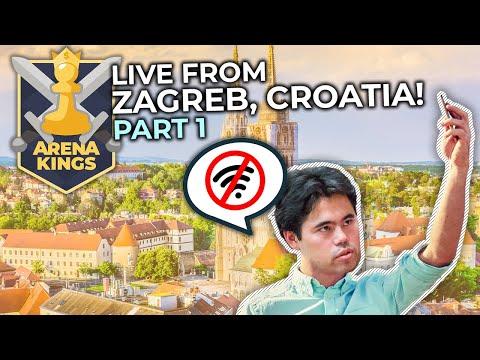 Arena Kings From Zagreb! Hotel Wifi Connection Vs. Hikaru Nakamura   Part 1