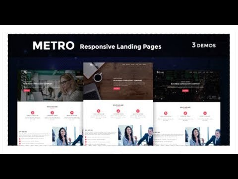 Metro - Multipurpose Responsive HTML Landing Pages | Themeforest Templates